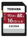 【メモリーカード】 SDカード SDHC 16GB UHS-1 4K対応 90MB/s 海外パッケージ品 toshiba ◎