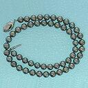 「送料無料」黒真珠ネックレス(7-7.5)b-201 お早目のご用意をお勧めします! 【ブラックフォーマル】【法事】【お悔やみ】パール