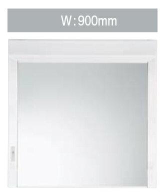 【LMM-91H】 《TKF》 ノーリツ 洗面化粧台 キューボ 間口900タイプ ミラーキャビネット ワイド1面鏡 ωμ1