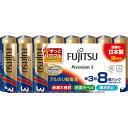 ショッピング防災 富士通 アルカリ乾電池単3 PremiumS (8本入) LR6PS(8S) ( LR6PS8S ) FDK(株)