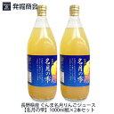 長野県産 ぐんま名月りんごジュース【名月の雫】1000ml瓶×2本セットぐんま名月 りんご果汁100