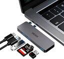 STRENTER USB Type C ハブ MacBook Pro/Air 最新型 6-IN-1 USB-C ハブ PD充電 ポート USB3.0ポート SD/Micro SDカードリーダー 直挿しタイプ Macbook Pro 2016/2017/2018/2019/2020 MacBook Air 2018/2019/2020に対応 グレー