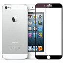 Jaorty アイフォン iPhone 5/5s/SE 強化ガラス 液晶保護フィルム ラウンドエッジ ガラスフィルム 硬度9H/高度感タッチ/高透過率/全面保護/飛散防止/なめらかタッチ/耐衝撃/防爆ガラス-ブラック フィルム- ブラック