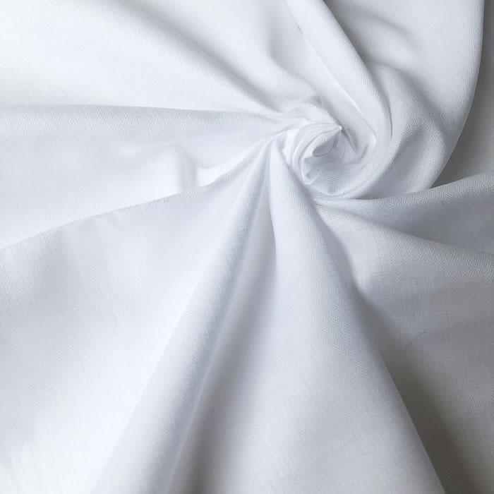 【生地・布】ホワイト 綿ローン ヘリンボン織り 無地 国産 ブラウス シャツ ワンピース 婦人 子供 小物 手芸 雑貨 インテリア 激安 セール(h-1702)
