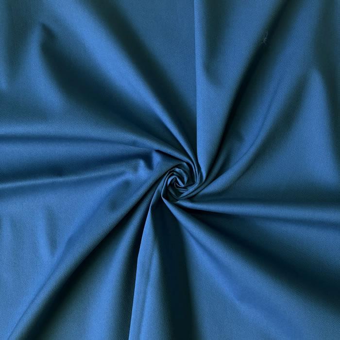 【生地・布】ブルー 綿ポリエステルギャバ 広幅 国産 シャツ ワンピース エプロン 婦人 子供 小物 手芸 雑貨 インテリア 激安 セール(h-1720)