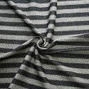 【生地・布 レディース ファッション】黒×グレー ウールアクリル インレーニット 起毛 ボーダー柄 国産 広幅 ジャケット スカート ワンピース シャツ パーカー 手芸 雑貨 インテリア 激安セール(h-1166)