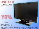 サマーSALE!!【中古】UNITECH ユニテク19V型地上デジタルハイビジョン液晶テレビVisole ビソレブラックLCU1902G22014年製