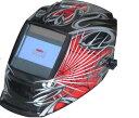 液晶自動遮光溶接面 高級タイプ TOAN-9800赤 スパイダー(高級パネル 4センサー 特大視野) 新商品 1本