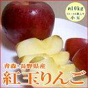 青森・長野産 紅玉リンゴ(こうぎょくりんご)約10kg かなり小玉 56?66個前後入り懐かしい甘酸