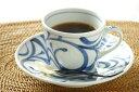 【砥部焼 梅山窯】からくさのコーヒーカップ