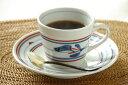 【砥部焼 梅山窯】みつ葉のコーヒーカップ