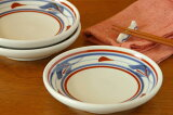 【砥部焼 梅山窯】みつ葉の取皿(4,6寸)