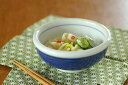 【砥部焼 梅山窯】外藍色の玉ぶち鉢(4寸)