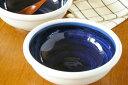 【砥部焼 梅山窯】内藍色の玉ぶち鉢(6寸)