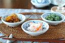 【砥部焼 梅山窯】つるんとまあるい豆小皿(みつからくさ)