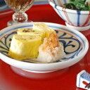 【砥部焼 梅山窯】赤線からくさの取皿(4.6寸)