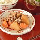 【砥部焼 梅山窯】赤太陽の取皿(4.6寸)