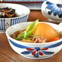 【砥部焼 梅山窯】ごす赤菊の多用鉢(4.7寸)