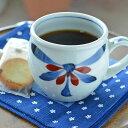 【砥部焼 梅山窯】ごす赤菊の丸ミルクカップ