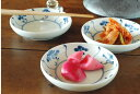 【砥部焼 中田窯】なずな模様の小皿(4寸)