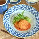 【砥部焼 中田窯】すずらんのリム付皿(6寸)