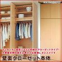 壁面クローゼット 本体(壁面収納 衣類収納 洋服掛け クローゼット 扉 収納 国産 日本製 棚 収納 多目的) 送料無料