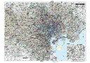 東京23区全図(地図)ポスター(B1判)【2017年最新版!】表面ビニールコーティング加工※