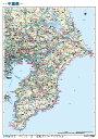 千葉県全図(地図)ポスター(B1判)【2016年最新版!】表面ビニールコーティング加工※水性ペンが使えます