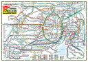 大きい首都圏交通マップ(英文)ポスター Railways of the Tokyo Metropolitan Distri