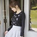 11月30日(水)再販決定★【alletty アテリー】FlowerBroom カタログ泉里香さんはブラックを着用