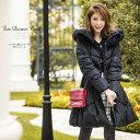 【リッチに演出ファー付ダウンコート】Lovery Autumnカタログ美香さんはブラックを着用