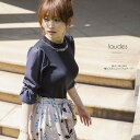 【laudes ラウディス】FlowerBroom カタログ泉里香さんはネイビーを着用
