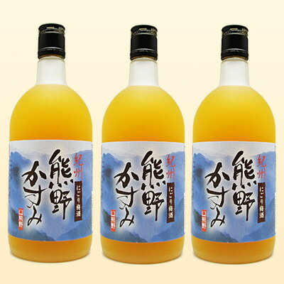 【3本セット】熊野かすみ720ml 紀州にごり梅...の商品画像
