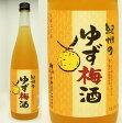 紀州のゆず梅酒 720ml徳島の柚子果汁使用・中野BC【和歌山県産】【果実酒】