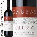 ジュゼッペ ガッバス / リッローヴェ  赤ワイン 750ml / イタリア サルデーニャ D.O.C. CANNONAU DI SARDEGNA GIUSEPPE GABBAS LILLOVE