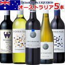 オーストラリアワイン5本セット赤ワイン3本(フルボディ、ミディアムボディ)、スパークリングワイン白1本、白ワイン辛口1本 【送料無料S】【ワインセットS】【ミックスS】【セレクトS】【飲み比べS】【楽ギフ_のし宛書】【あす楽】