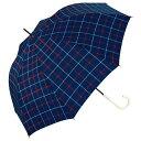 【w.p.c】 晴雨兼用 手開き傘 長傘「アンヌレラ(トラッドチェック)」