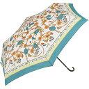 ショッピング価格 【because】折傘「スカーフプリント(グリーン)」