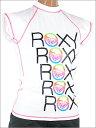 【ROXY】ロキシーWOMEN'S 半袖ラッシュガード(レディース水着)TORAYのUVカット素材(spf50+)※他カラー有り