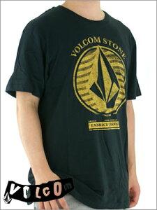 【VOLCOM】ボルコムMEN'SS/STEE(半袖Tシャツ)BLACK前面はワンポイント刺繍に、BACCKはリバイバルロゴで!