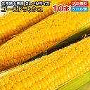 とうもろこし 10本入り 送料無料糖度の高い「朝採り」を北海道十勝からクール便で即日直送!北海道十勝産 ゴールドラッシュ 一番果 2L~Mサイズ10本セット!低農薬栽培ラッキーシール 対応