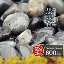 【送料無料】黒玉石 1.5寸 600kg (20kg×30袋) | 約40-60mm 大量 庭 砂利 石 玉石 玉砂利 黒 灰色 グレー 那智 枯山水 ガーデニング ガーデン 和 洋