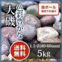 玉砂利 アジアン 和風 庭園大磯 1.5寸5kg【送料無料】