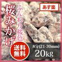 枯山水 砂利:桜みかげ8分(21-30mm)20kgピンク 化粧砂利 庭【送料無料】【あす楽】
