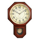 【お取り寄せ品,アウトレット品】 MAG(マグ) クラシック振り子掛時計 洋鳴館 (ようめいかん) W-514BR