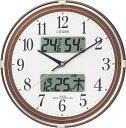 【訳あり,アウトレット品】 シチズン電波掛時計「ネムリーナカレンダーリブ」 4FYA05-B006