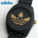 アディダス adidas originals 腕時計 時計 ペアウォッチ サンティアゴ SANTIAGO ADH2912 黒 ブラック ゴールド メンズ レディ...
