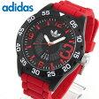 ★送料無料 adidas アディダス ADH3113 海外モデル メンズ 腕時計 ウォッチ シリコン ラバー バンド クオーツ アナログ 黒 ブラック 赤 レッド夏物 誕生日 ギフト