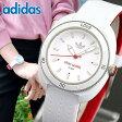 adidas アディダス STAN SMITH スタンスミス ADH3124 海外モデル レディース 腕時計 ウォッチ シリコン ラバー バンド クオーツ アナログ 白 ホワイト 赤 レッド【あす楽対応】 スポーツ 誕生日 ギフト