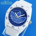 【送料無料】 adidas アディダス SANTIAGO サンティアゴ メンズ 白 青 腕時計 シリコン ラバー バンド ホワイト ブルー カジュアル クオーツ アナログ ADH3195 海外モデル 誕生日プレゼント 男性 女性 ギフト